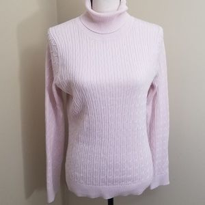 Talbot's Pima Cotton Long Sleeve Sweater Med Pink